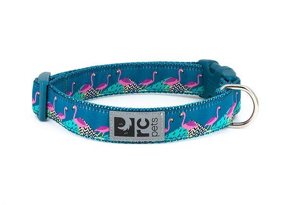 """Easy Clip Dog Collar - """"Flamingo"""" Design"""