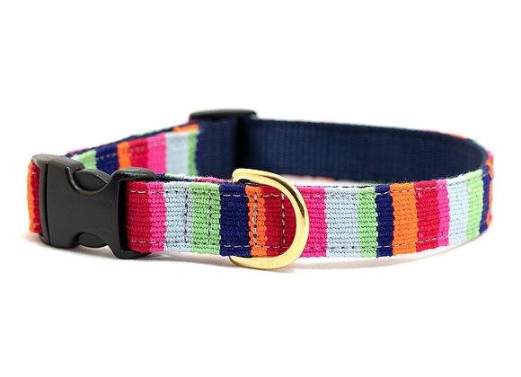 Maui Beach Stripe Cotton Dog Collar