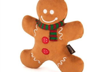 Holiday Gingerbread Man Doggie Squeak Toy