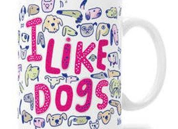 """I Like Dogs"" Gift Mug"