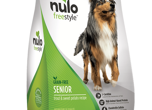 Nulo Freestyle Grain-Free Dog Food for Seniors - Trout and Sweet Potato Recipe