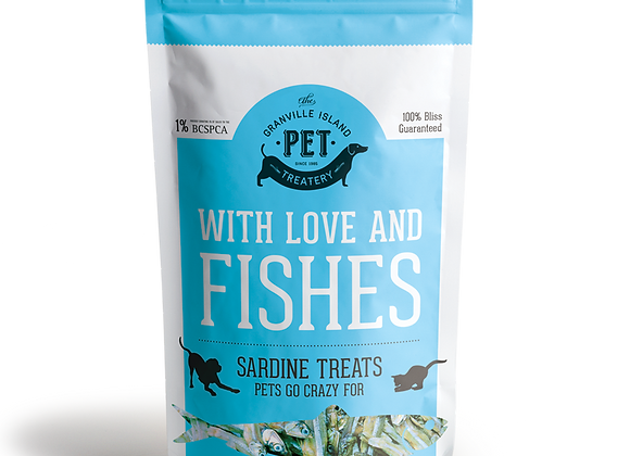 With Love and Fishes: Natural Sardine Treats for Pets (Large)