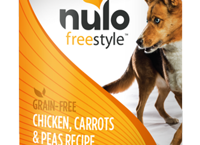 Nulo Freestyle Canned Dog Food - Chicken, Carrots & Peas, case of 12