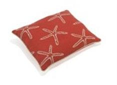 Up Country Pet Futon, Red Starfish Pattern