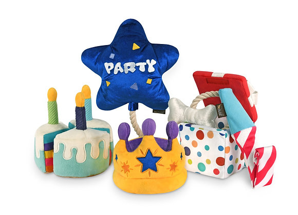 """""""Party Time!"""" Dog Toy Set"""