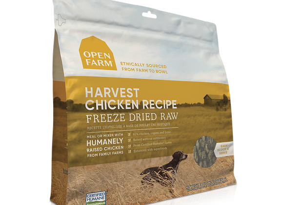 Open Farm Freeze-Dried Raw Harvest Chicken Dog Food
