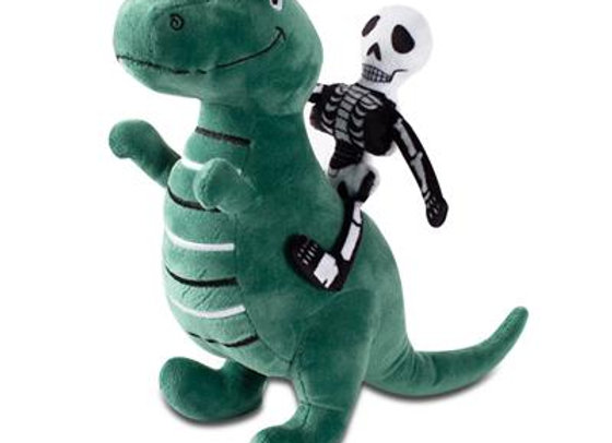 Skeleton Rex Squeaky Plush Dog Toy