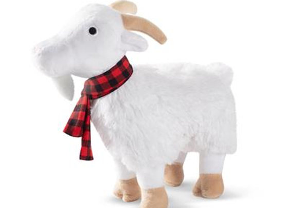 Winter Goat Dog Toy with Squeaker