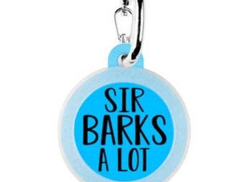 """Sir Barks a Lot"" Funny Pet Tag"