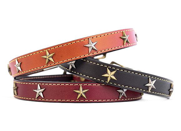 "Heirloom ""Old Glory"" Genuine Leather Dog Collar"
