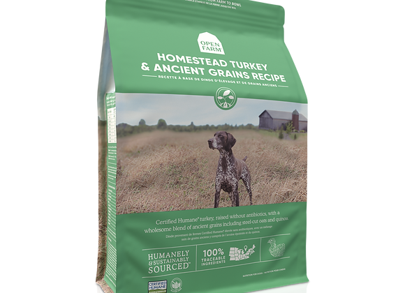 Open Farm Homestead Turkey and Ancient Grains Dry Dog Food