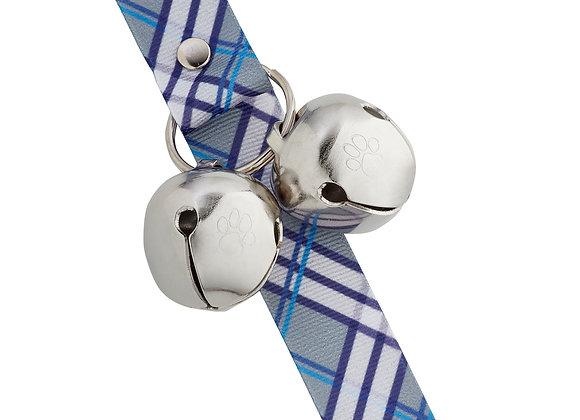"PoochieBells Doggie Doorbell Training Solution - Blue Plaid ""Royalty"""