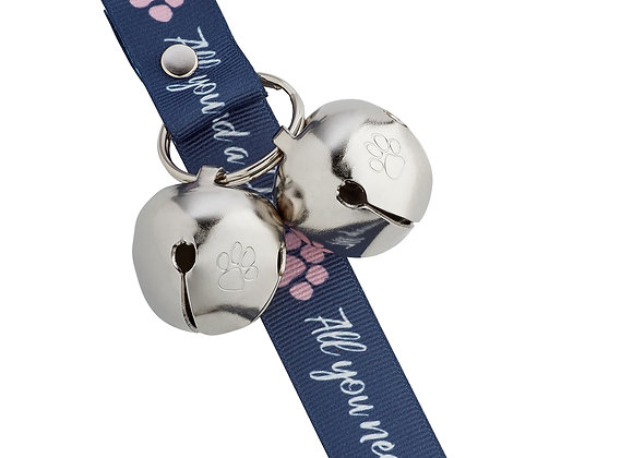 PoochieBells Doggie Doorbell Training Solution - All You Need Is Love and a Dog