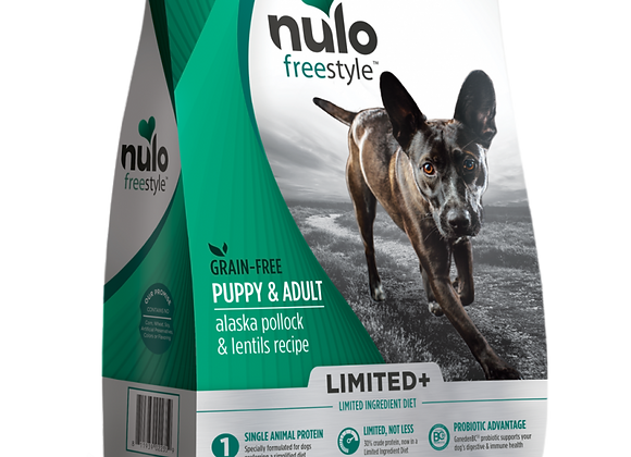 Nulo Freestyle Grain-Free Dog and Puppy Food - Alaska Pollock and Lentils Recipe