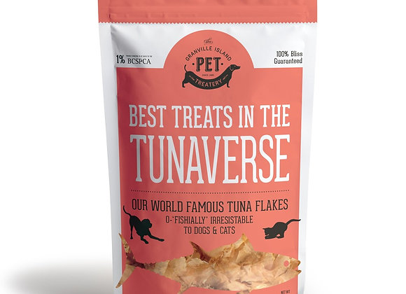 """""""The Best Treats in the Tunaverse"""" Fish Treats for Pets (large)"""