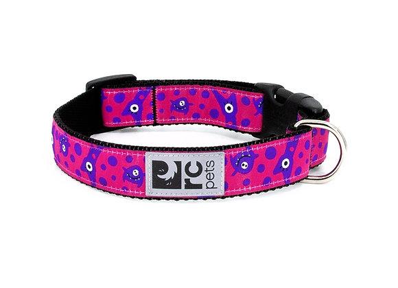 """Easy Clip Dog Collar - """"Merry Monster"""" Design"""