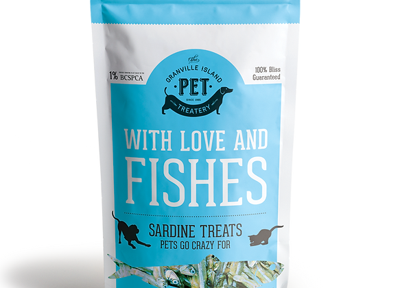 With Love and Fishes: Natural Sardine Treats for Pets (Small)
