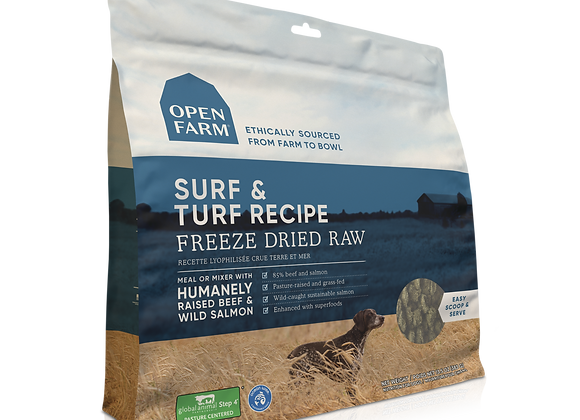 Open Farm Surf and Turf Freeze-Dried Raw Dog Food