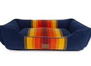Modern Striped Kuddler Dog Bed: Grand Canyon Blue