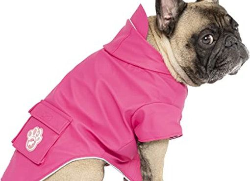 """""""Torrential Tracker"""" Stylish Pink Raincoat for Dogs"""