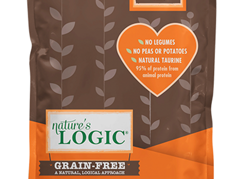 Nature's Logic Grain-Free Duck and Salmon Meal Dry Dog Kibble