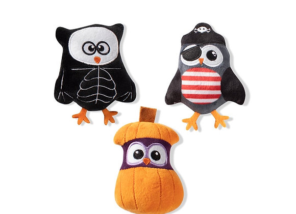 Halloween Owl Trio of Toys for Small Dogs