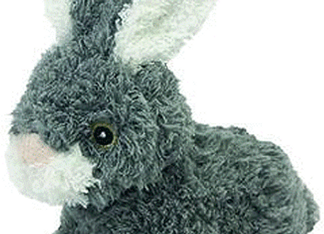 """Look Who's Talking! Plush Rabbit """"Talking"""" Toy for Dogs"""