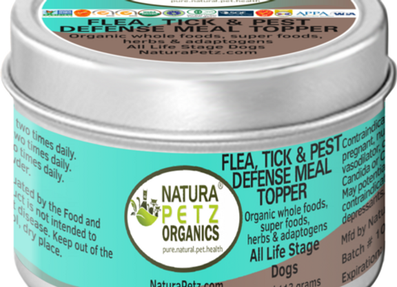 Natura Petz Organics Flea, Tick, and Pest Defense Canine Meal Topper