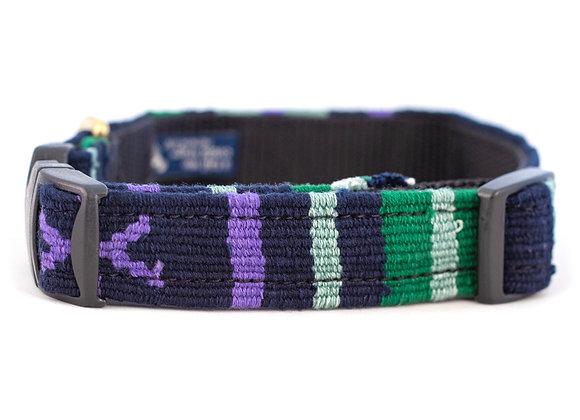 "Handmade Guatemalan ""Sun Valley Night"" Dog Collar"
