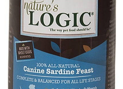 Nature's Logic Sardine Feast Canned Dog Food, 13.2 oz., Case of 12