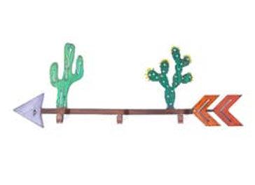Cactus & Arrow Recycled Metal Leash/Key Hook