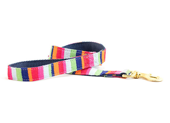 Maui Beach Stripe Cotton Dog Leash