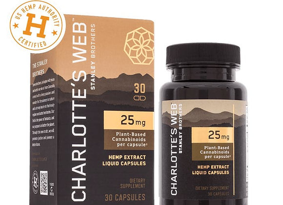 Charlotte's Web 25 mg Hemp Oil Liquid Capsules