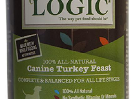 Nature's Logic Turkey Feast Canned Dog Food, 13.2 oz., Case of 12