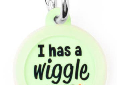 """""""I Has A Wiggle Butt"""" Funny Pet Tag"""