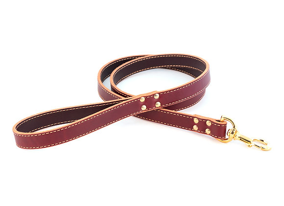 Classic Genuine Leather 6' Dog Leash