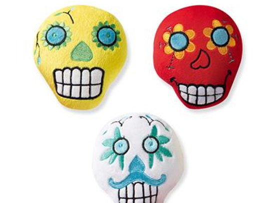 Sugar Skull Trio of Halloween Toys for Small Dogs
