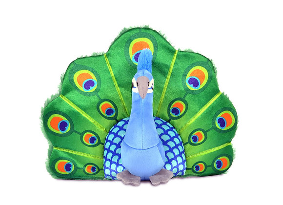 Percy the Peacock Plush Toy for Dogs