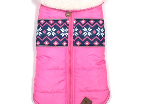 Worthy Dog Aspen Puffer Jacket - Pink