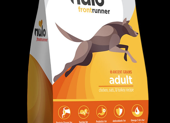 Nulo Frontrunner High-Meat Dog Kibble: Chicken, Oats, and Turkey Recipe