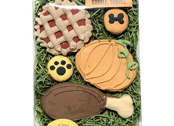 """""""Gobble Gobble"""" Thanksgiving Cookies for Dogs"""