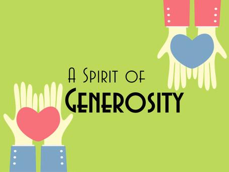Embrace the Spirit of Generosity