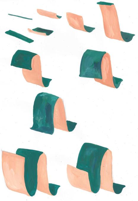 Ribbon Gouache Frames 1-11