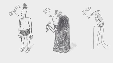 Origin of Birds Character Sketches