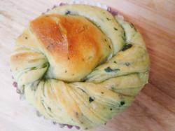 ほうれん草とごぼうパン
