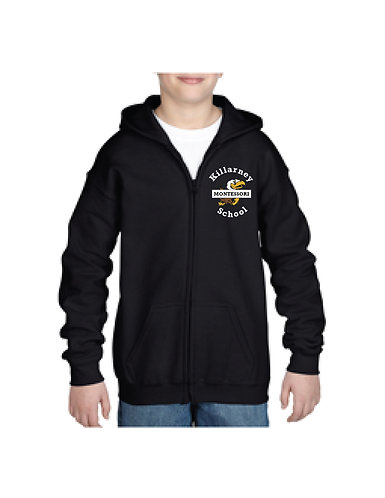 Youth Full Zip Hooded Sweatshirt