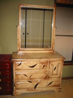 和柄のリメイク鏡台