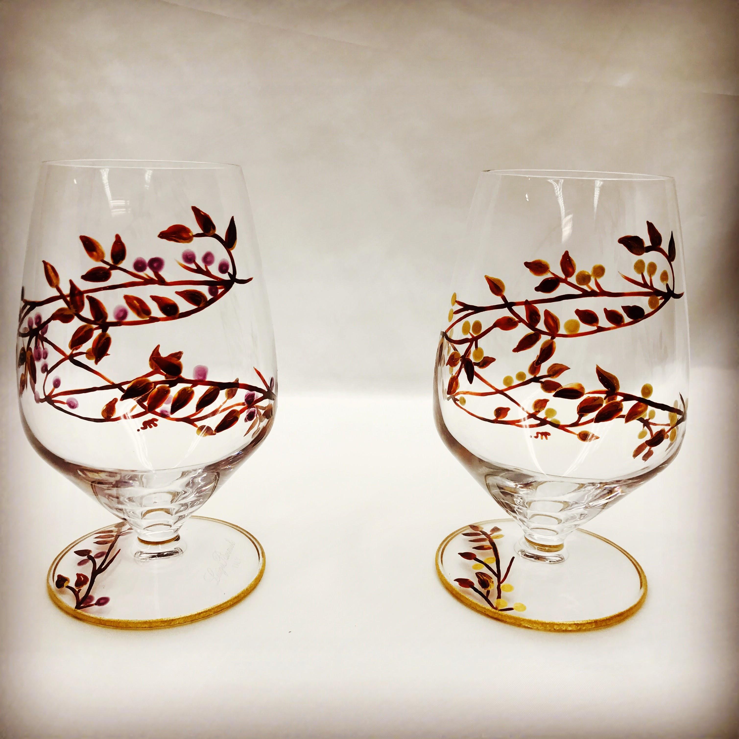秋の実のグラス