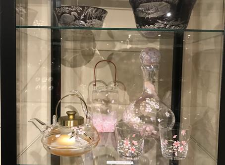 廣田ガラスさんで私の作品が展示されました
