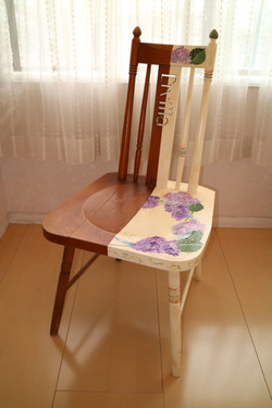 リメイクの椅子